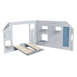 FOLDABLE OFFICE - BLUE VERSION - SEPARE CONFIGURATION - FRONT