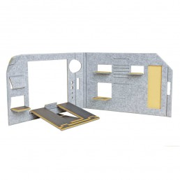 FOLDABLE OFFICE - YELLOW VERSION - SEPARE CONFIGURATION - FRONT