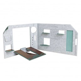 FOLDABLE OFFICE - GREEN VERSION - SEPARE CONFIGURATION - FRONT