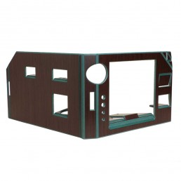 FOLDABLE OFFICE - GREEN VERSION - SEPARE CONFIGURATION - BACK
