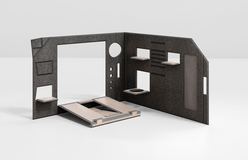 FOLDABLE OFFICE - CHERRY