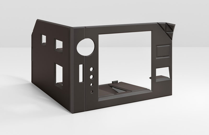 FOLDABLE OFFICE - TOTAL BLACK